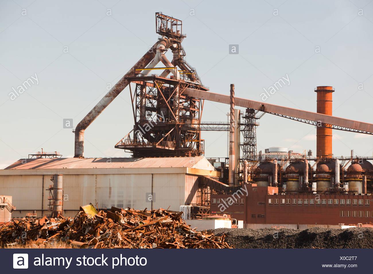 Redcar steel works, Teeside, UK. Stock Photo