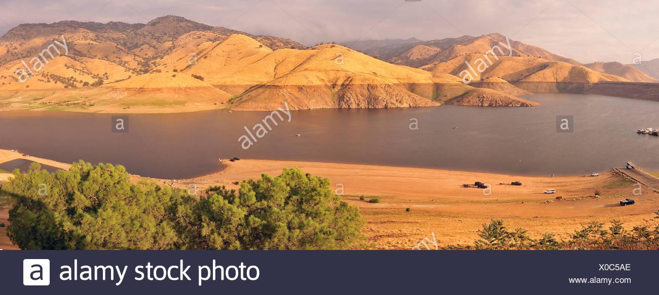Kaweah Lake, Terminus Dam, near Lemon Cove, California, USA, United States, America, landscape - Stock Image