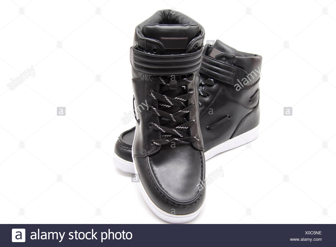 leather shoes - Stock Image