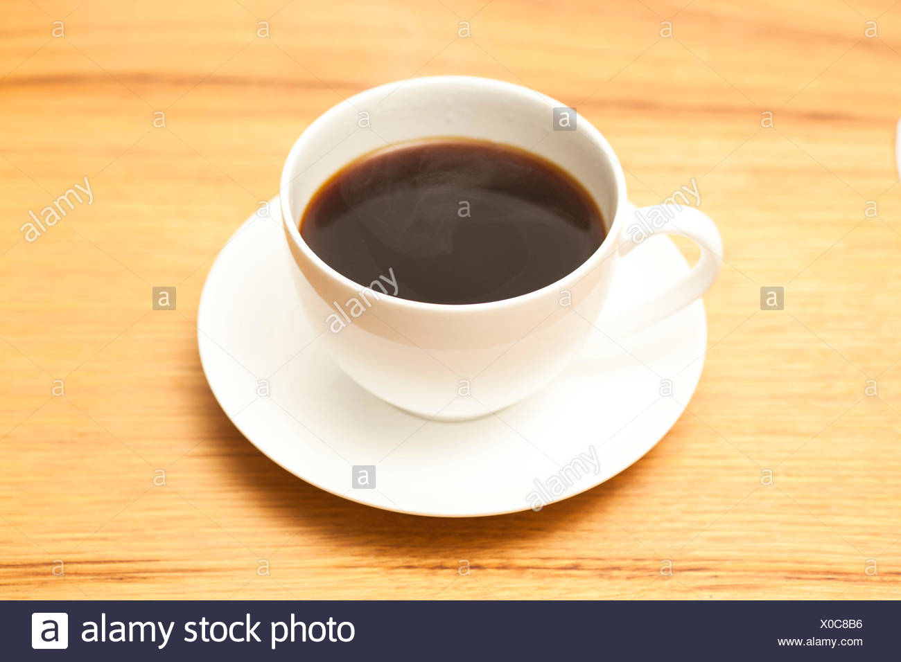 Cup of Americano Coffee - Stock Image