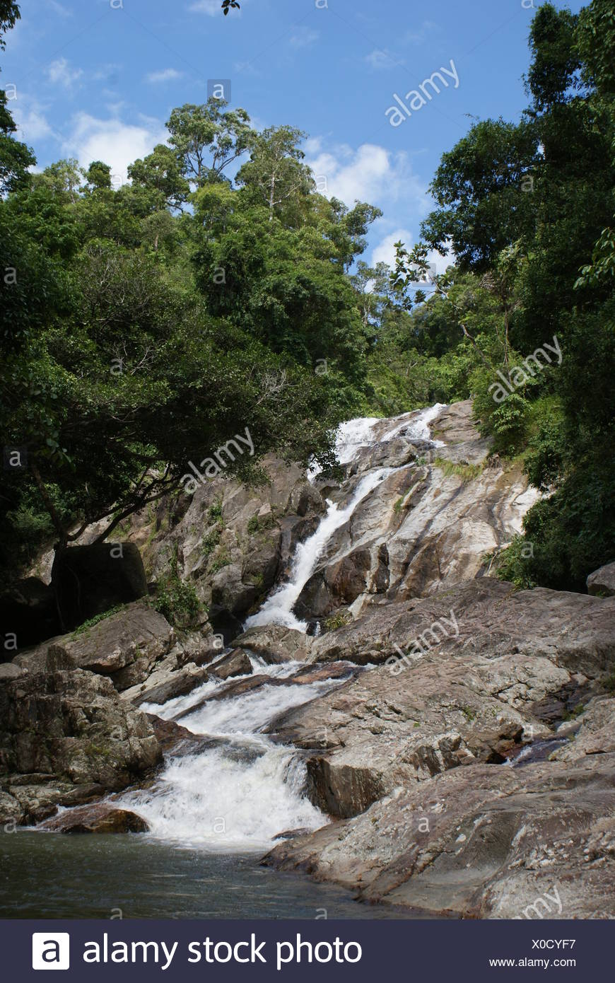 hin lad waterfall - Stock Image