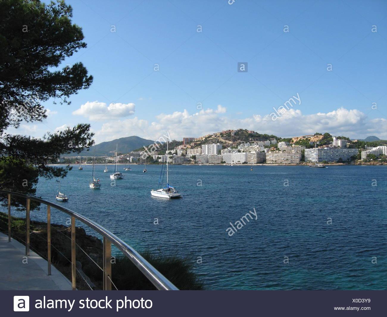 mallorca spain mallorca spain water mediterranean salt water sea ocean bay - Stock Image