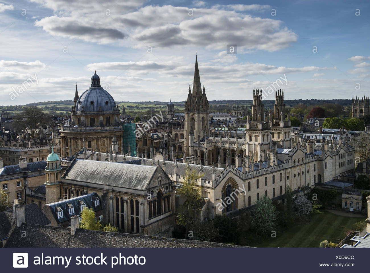 All Souls College with Radcliffs Camera - Stock Image