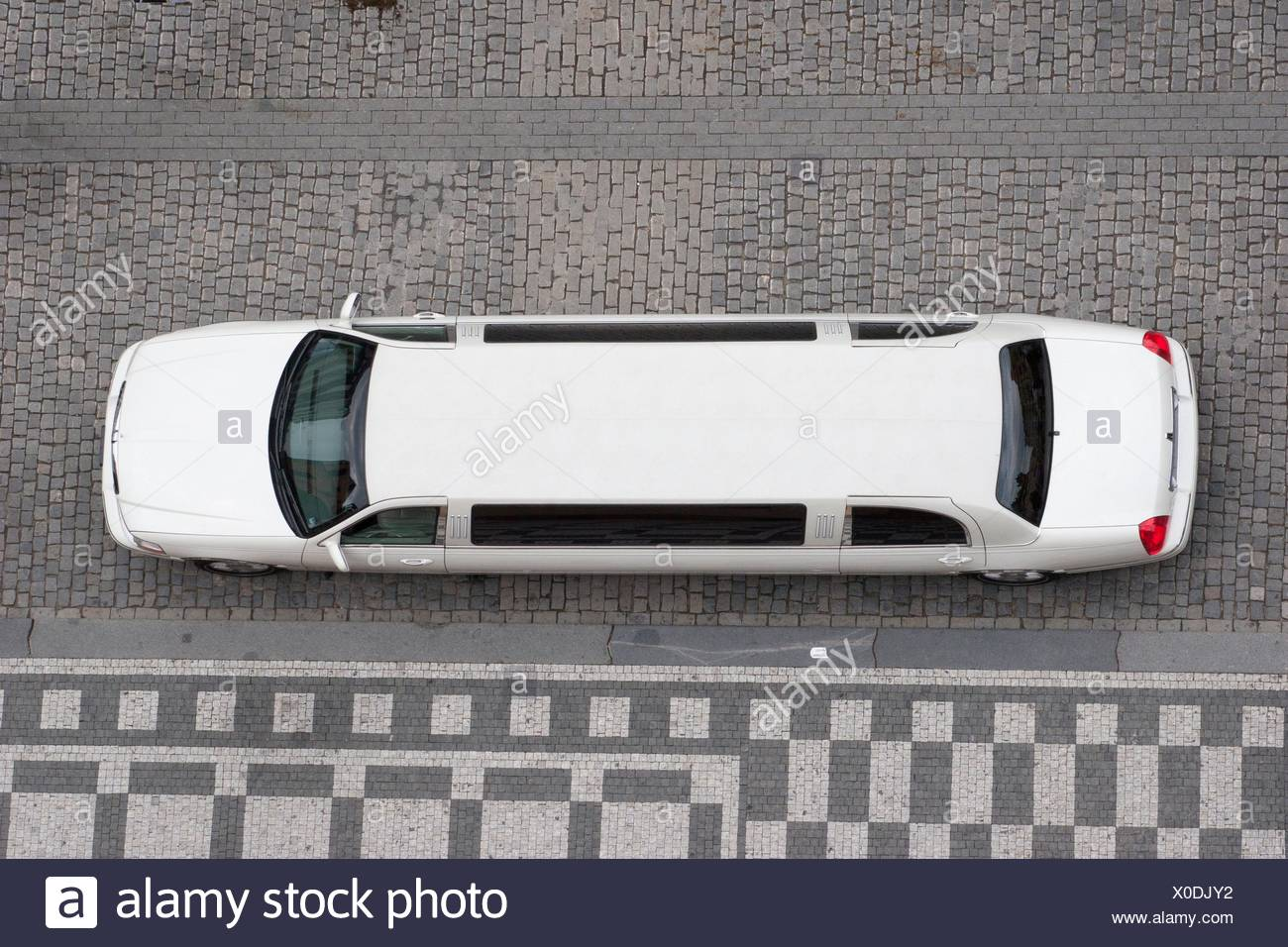 Elevated view of a limousine, Prague, Czech Republic - Stock Image