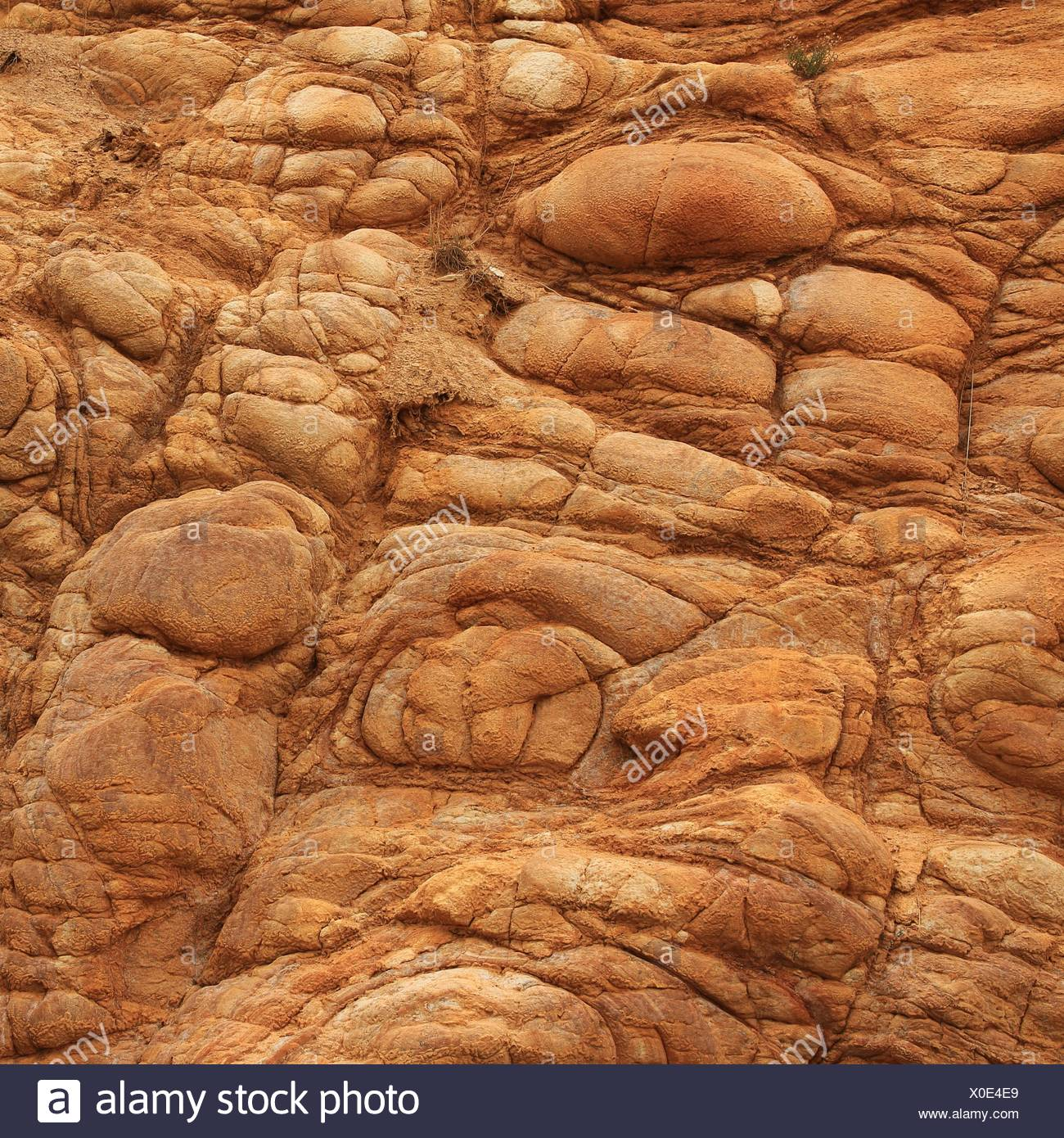Bubbles in vulcanic rock - Stock Image