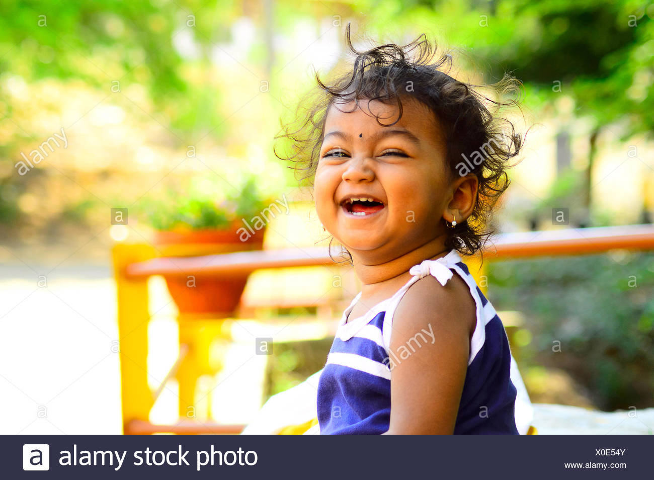 cute baby laughing facing camera stock photo: 275677275 - alamy