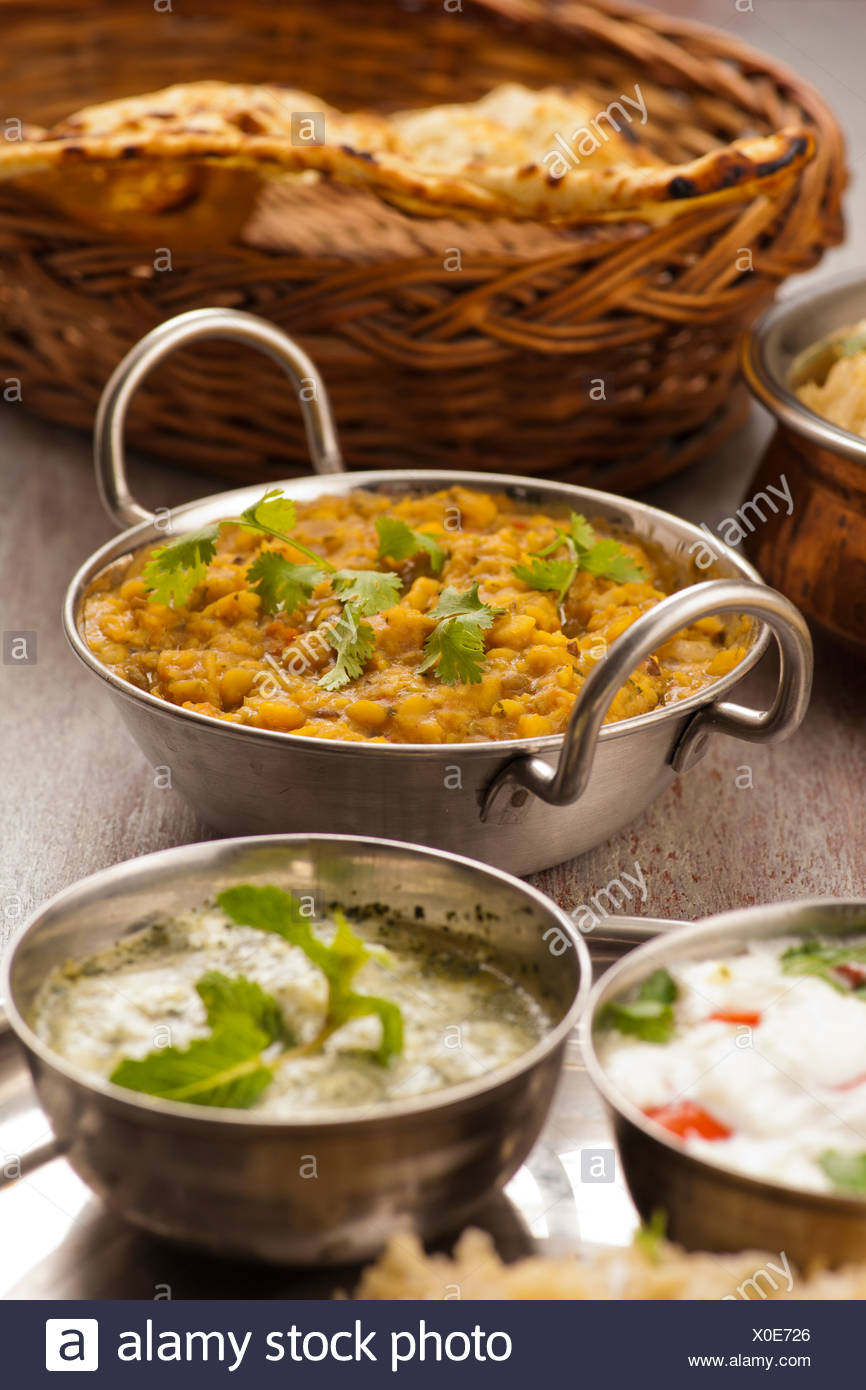Indian traditional food dal Stock Photo