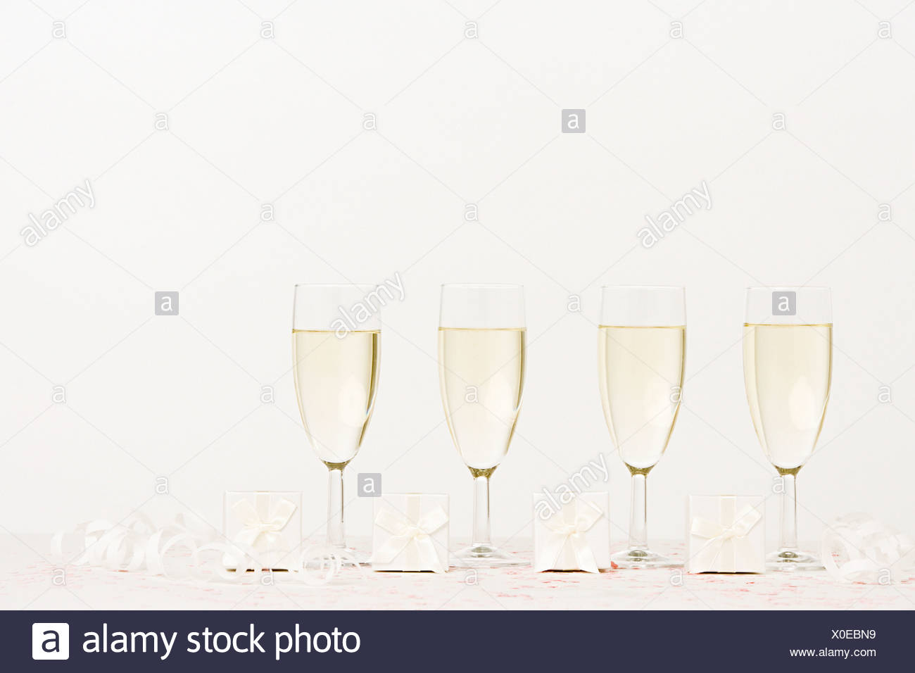 Flutes And Wedding Presents Stock Photos & Flutes And Wedding ...