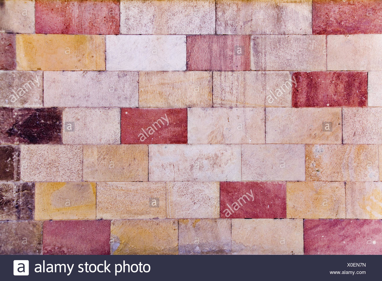 colorful stonewalls - Stock Image