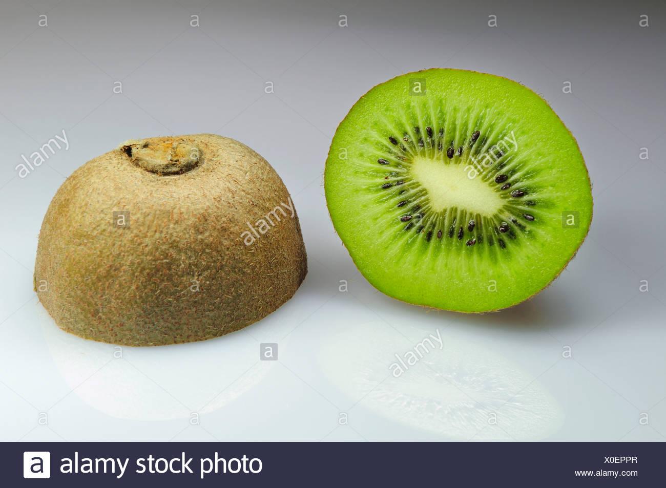 Two Kiwi halves Stock Photo