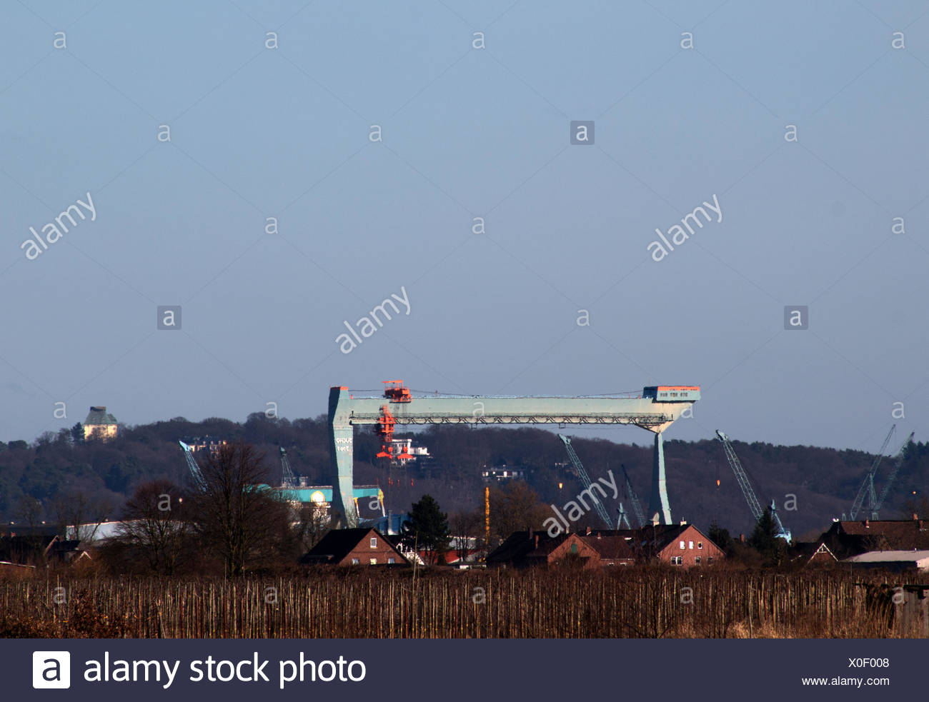 Old land with Sieta's bridge - Stock Image