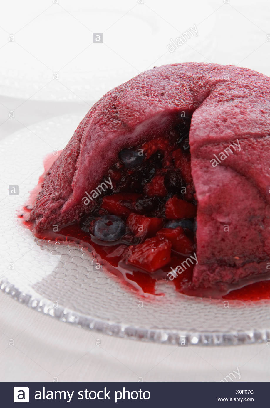 summer pudding - Stock Image