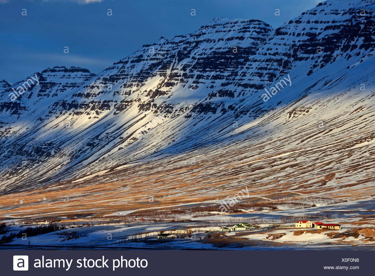 Iceland, Austurland, east fjords, eastern iceland, Neskaupstadur - Stock Image