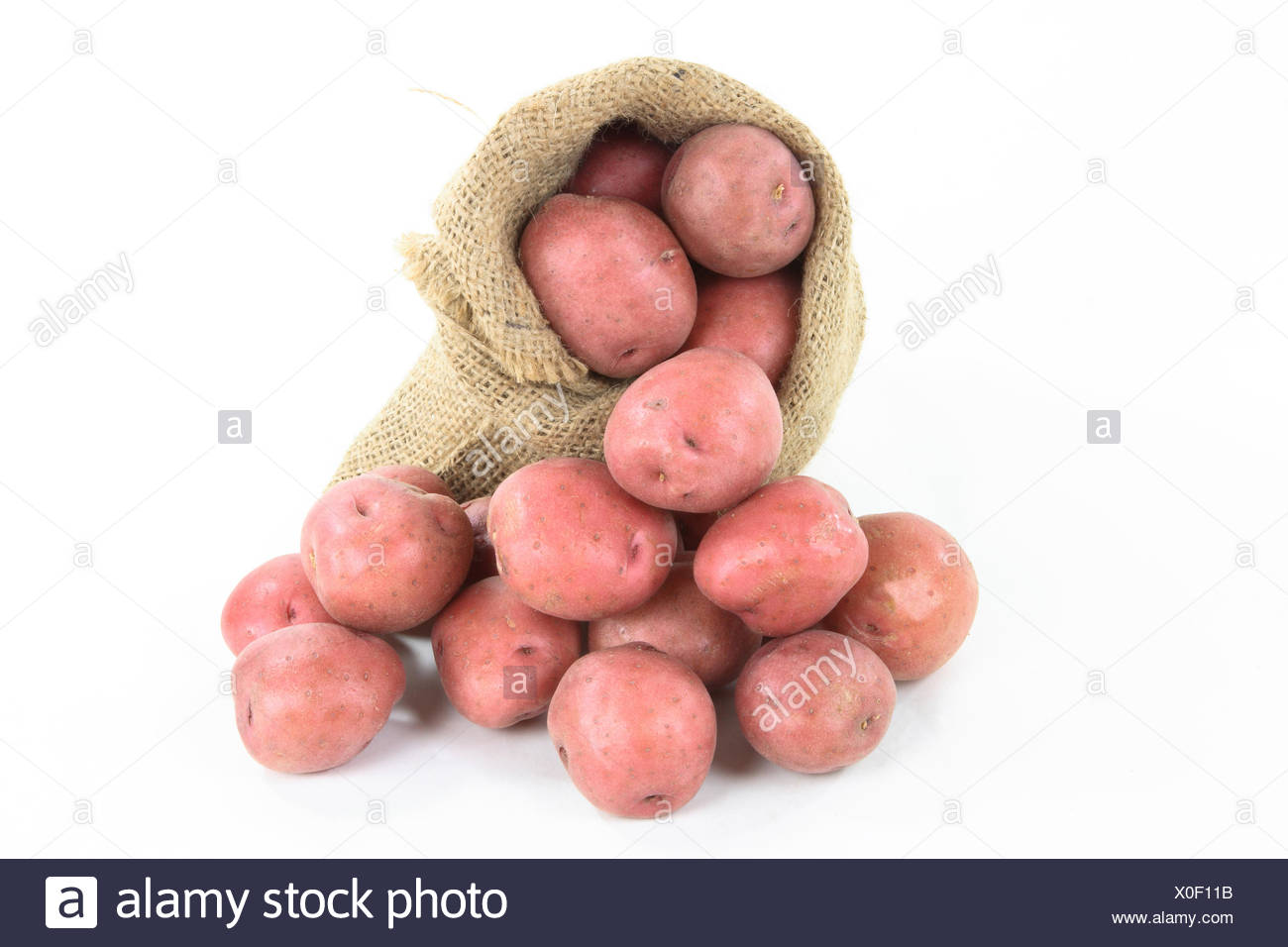 Red mini potatoes - horizontal orientation. - Stock Image