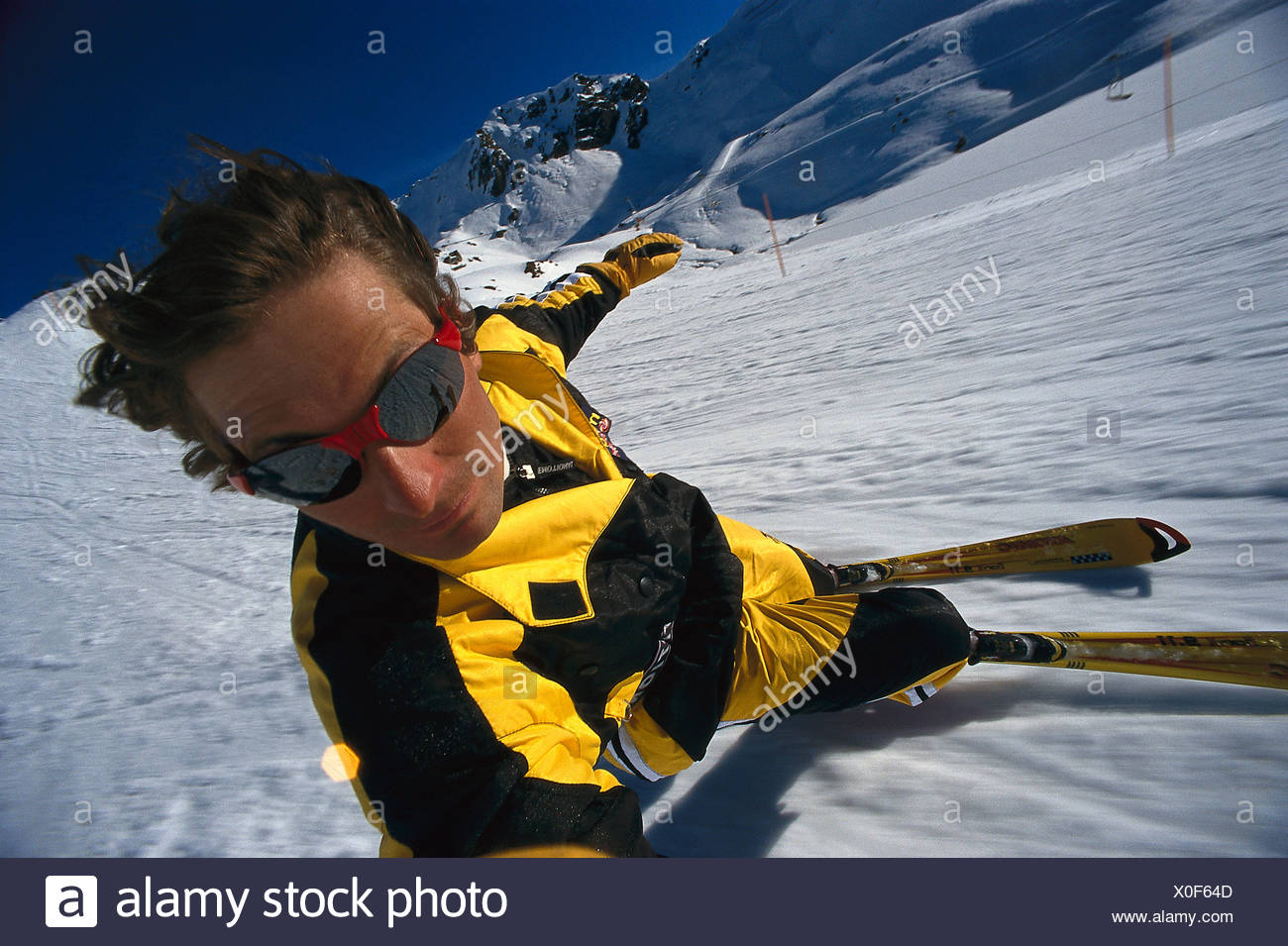 Skifahrer, Carving Stock Photo