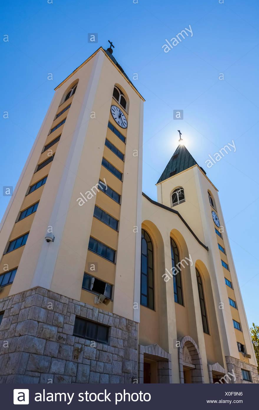 Saint James Church; Medjugorje, Bosnia-Herzogovina - Stock Image