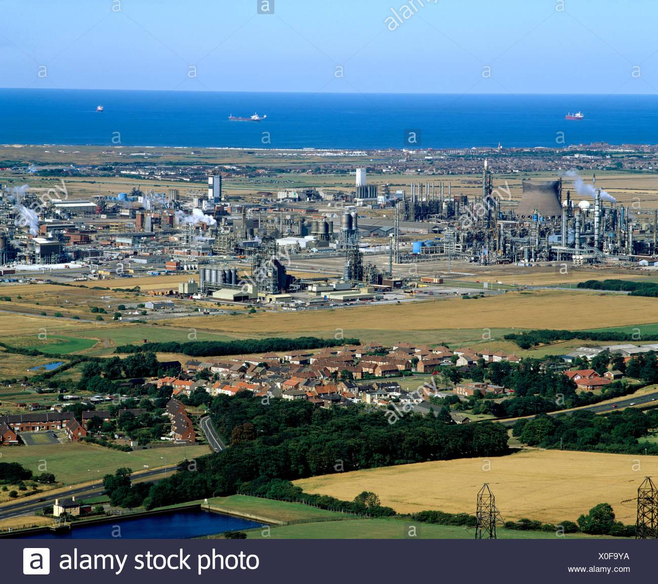 ICI Wilton chemical plant Teeside NE England - Stock Image