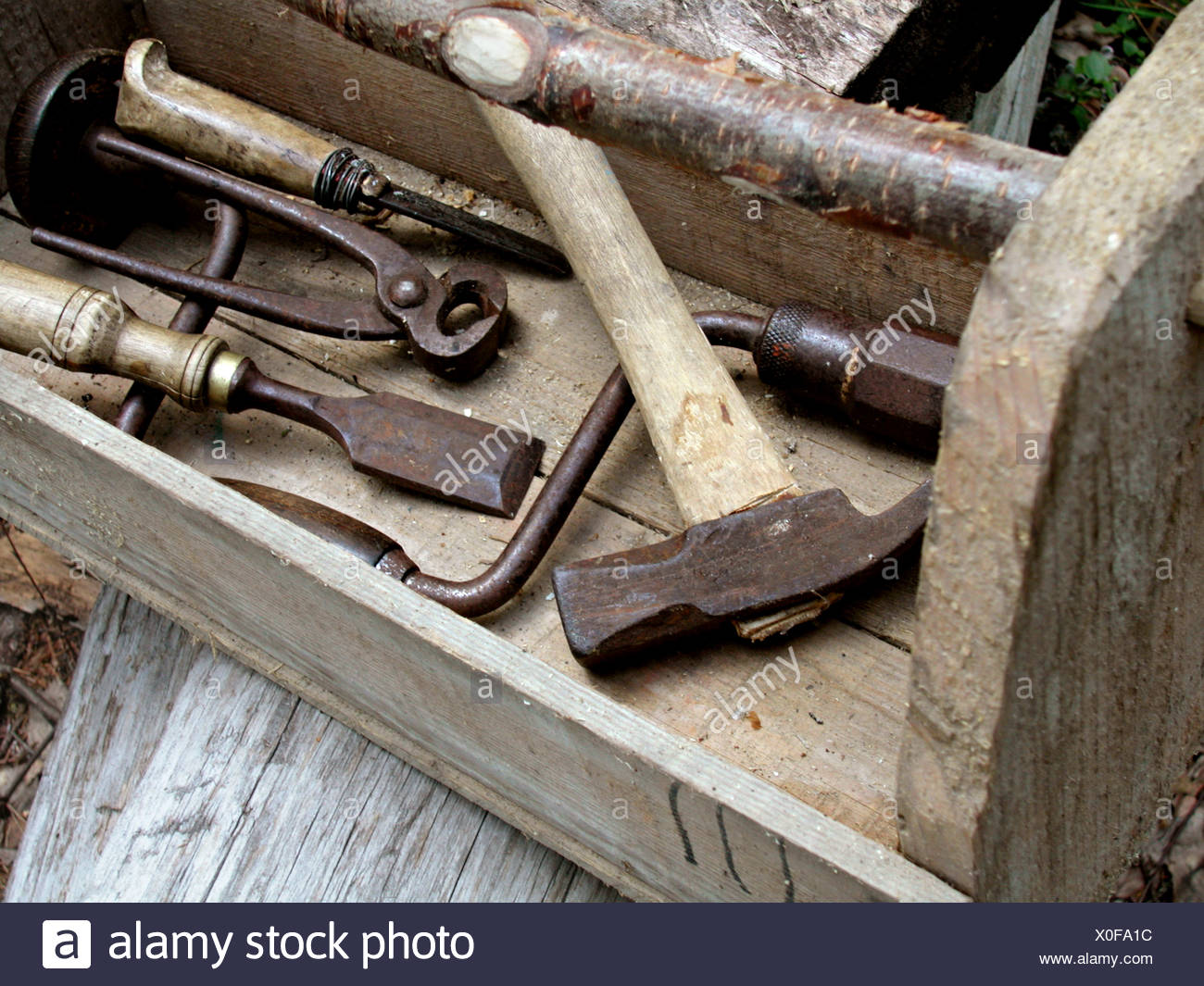 old toolbox - Stock Image