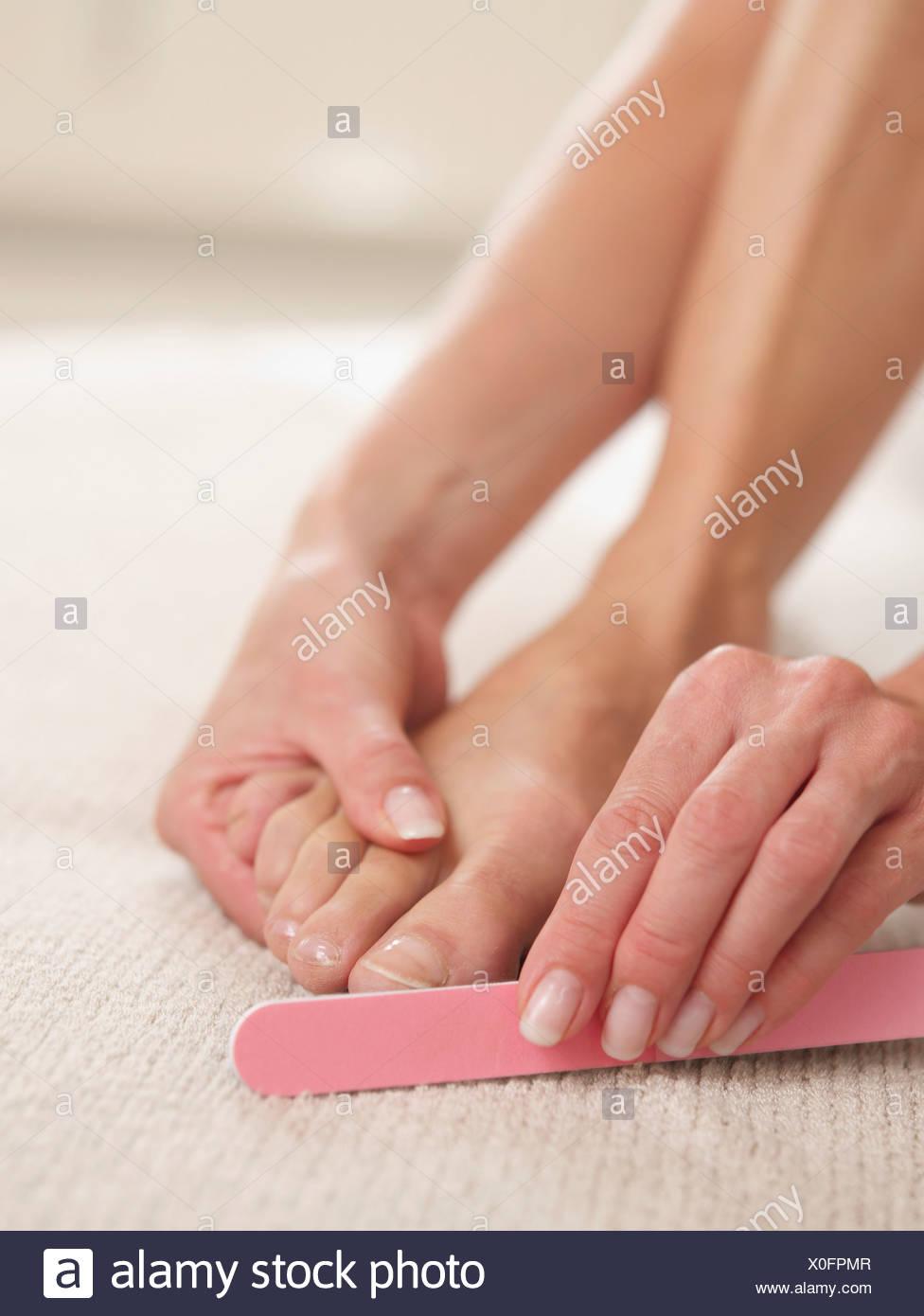 Foot Nail File Stock Photos & Foot Nail File Stock Images