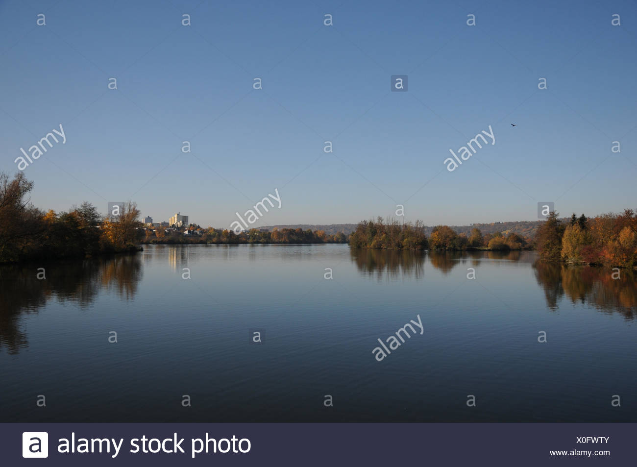 The river Naab, streaming into Danube - Stock Image