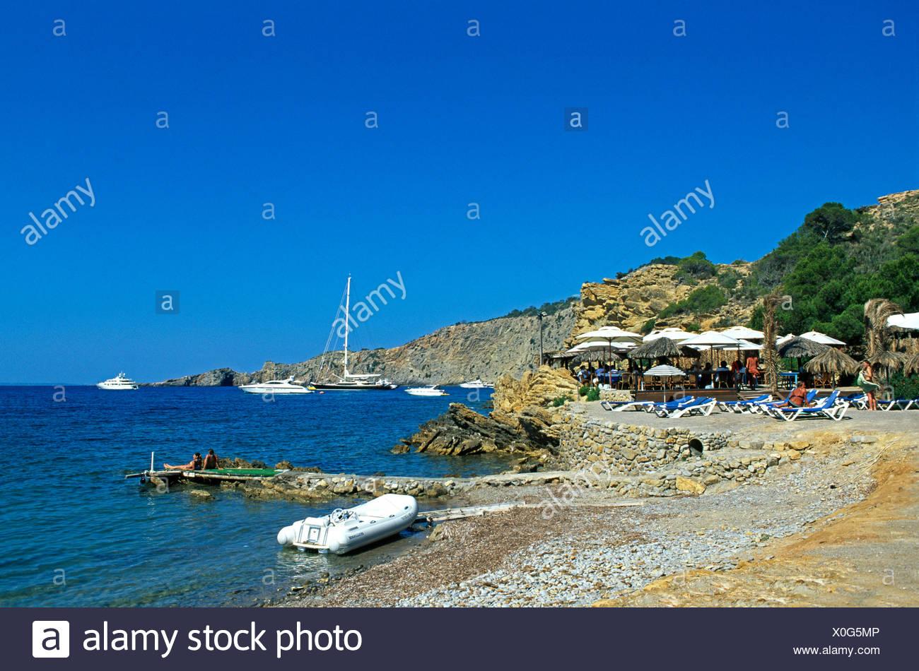 Rocky coast near Sa Caleta, Ibiza, Balearic Islands, Spain Stock Photo