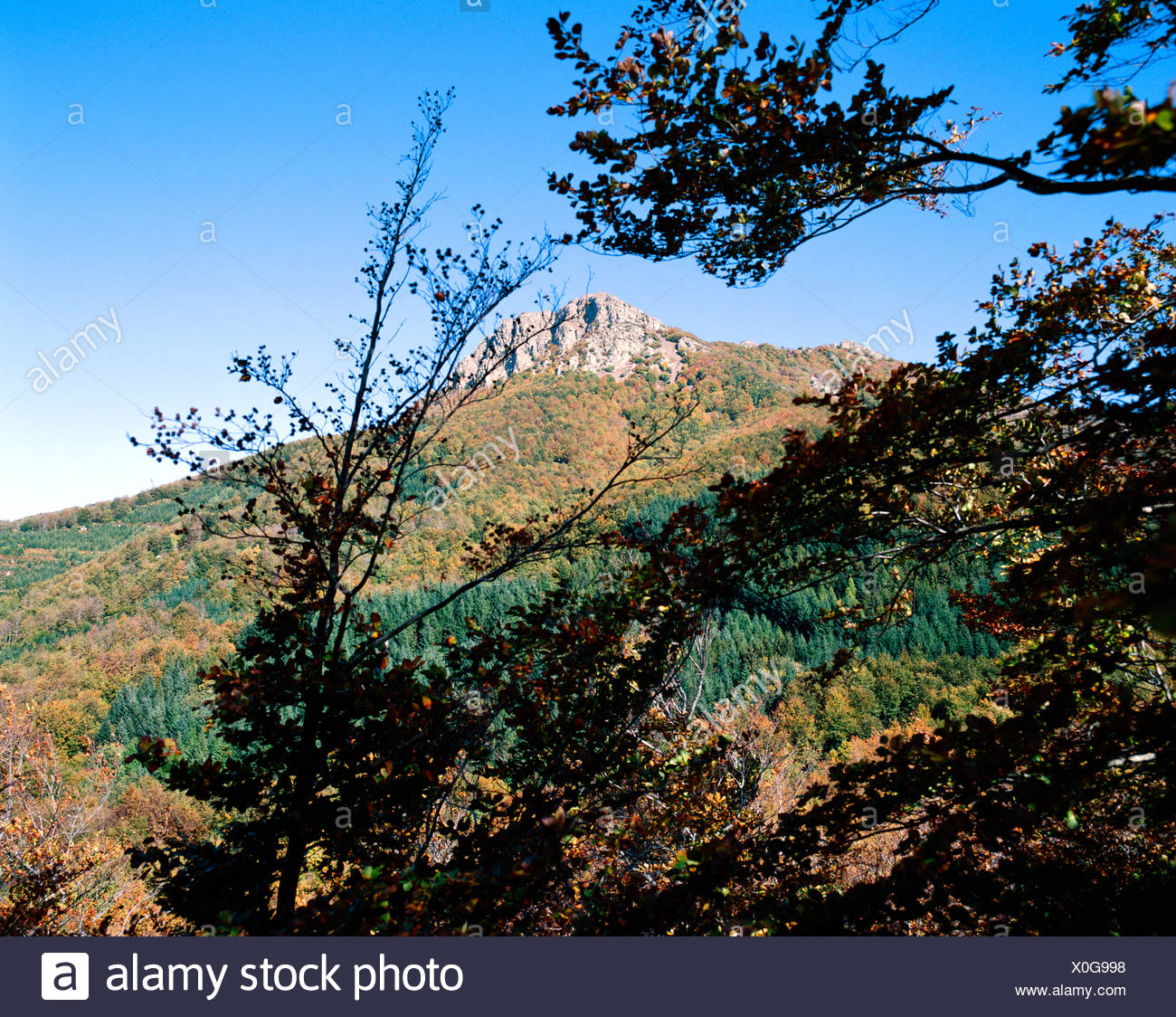 Les Agudes (1703 m). Montseny. Barcelona. Cataluña, Spain - Stock Image