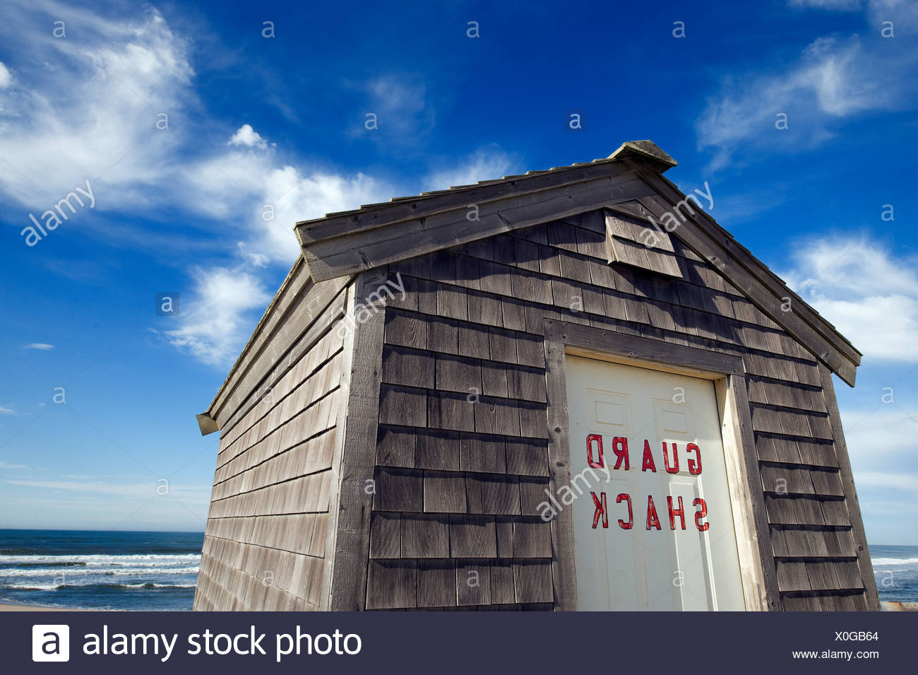 a06ed5a9b086 Lifeguard shack Head of Meadow Beach Truro Cape Cod MA - Stock Image