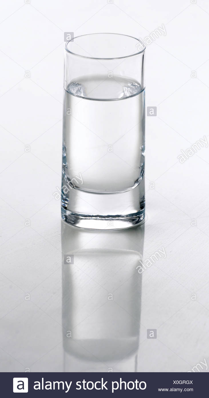 Glass of water - Stock Image
