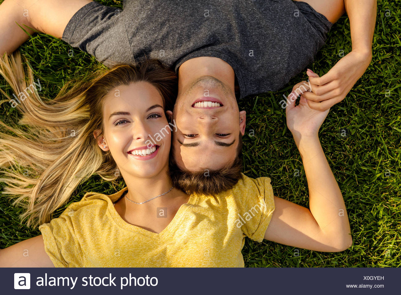 The joy of being in love - Stock Image