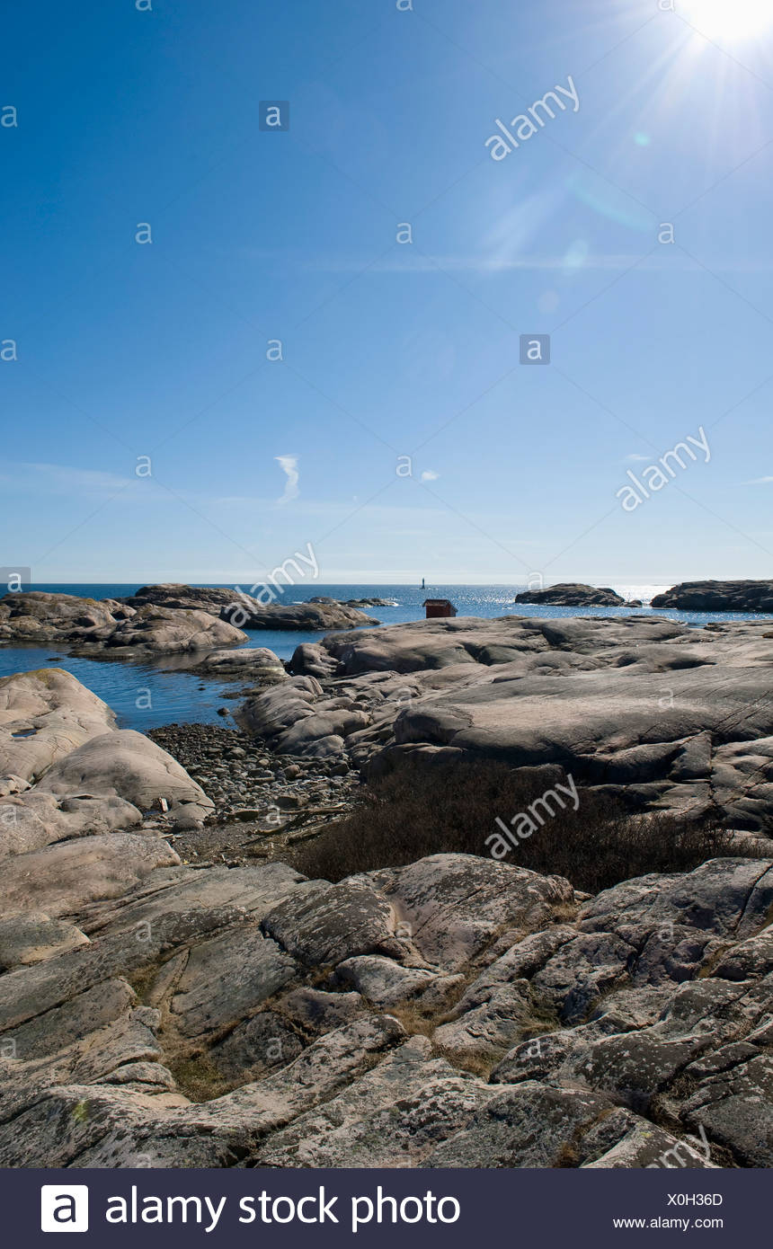 Rocky coast by the West Coast - Stock Image