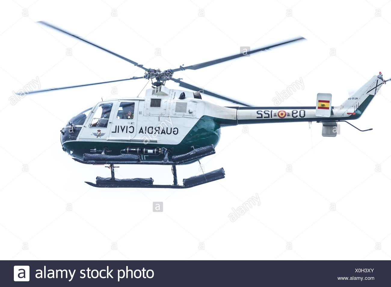 helicopter of the spanish Civil Guard - Stock Image
