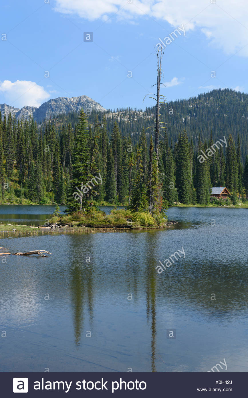 Canada,British Columbia,Kootenay,summit,Selkirk mountains,lake,mountains,summit - Stock Image