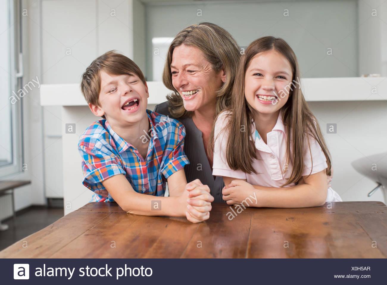Happy grandmother with grandchildren, portrait Stock Photo