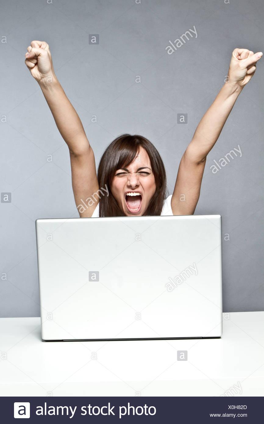 onlin winner - Stock Image