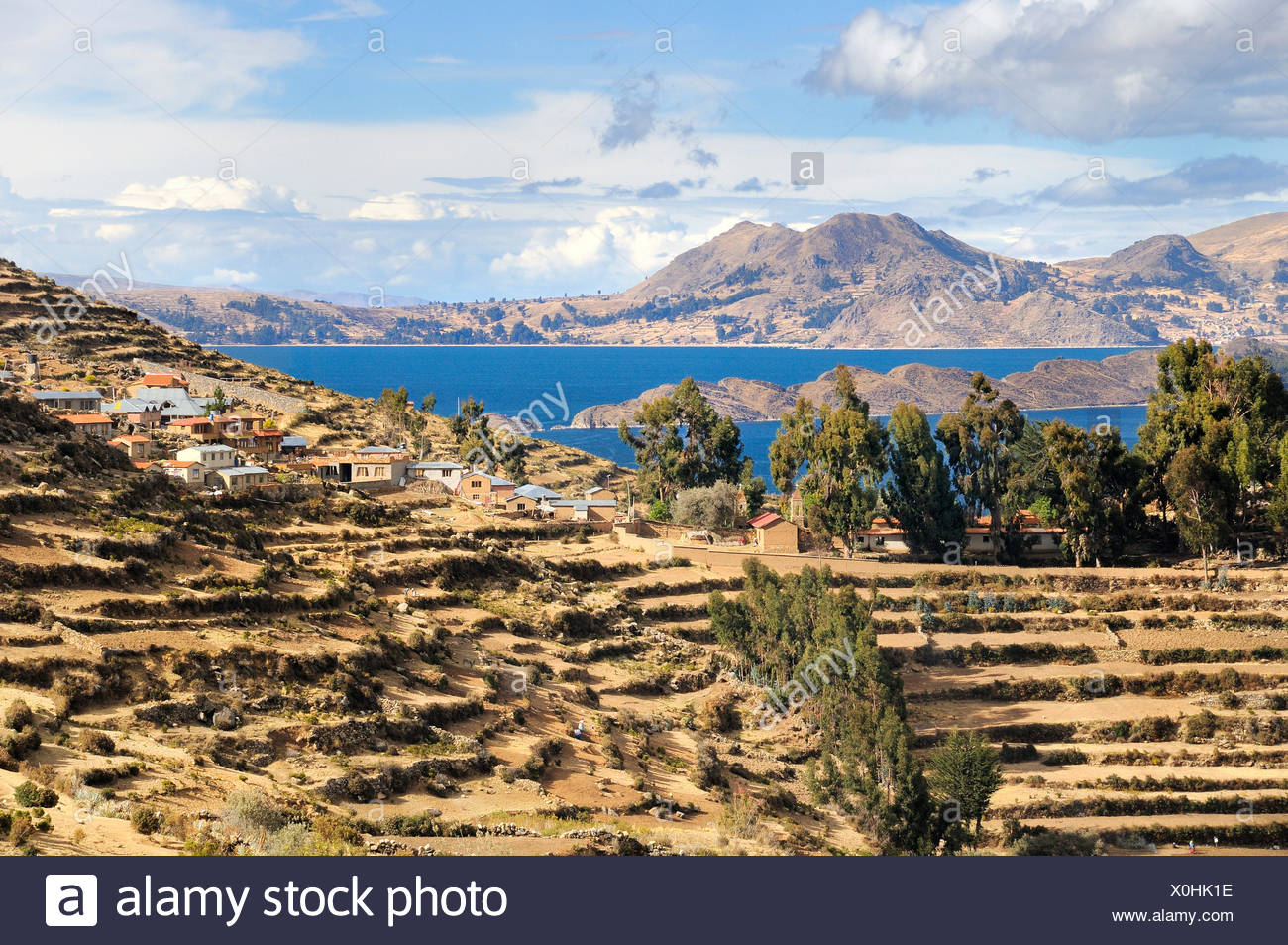 south america bolivia salt water - Stock Image