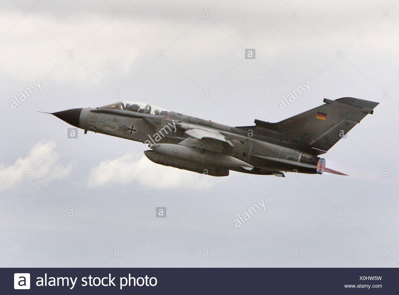 A Panavia Tornado taking off, Jagel, Germany - Stock Image
