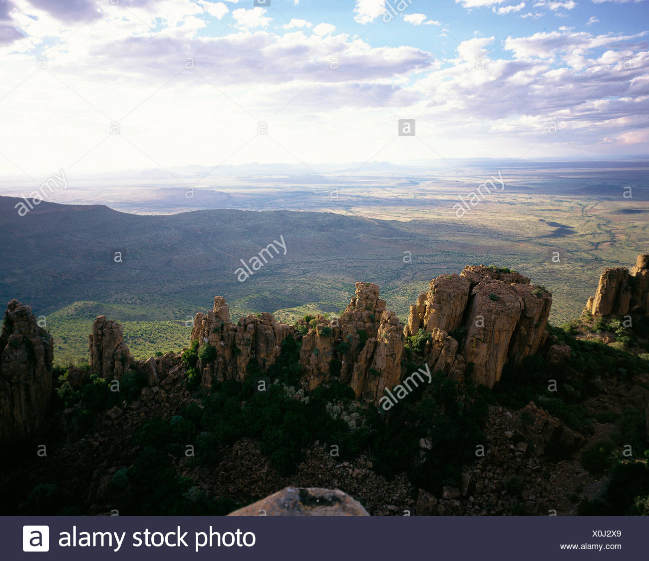 Petrified Trees Valley of Desolation Graaff Reinet, Eastern Cape, South Africa Stock Photo