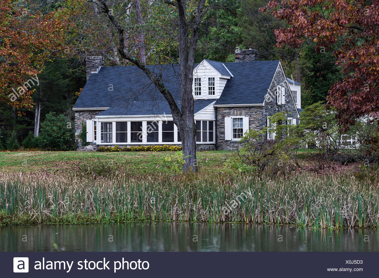 Val-Kil, Stone Cottage, Eleanor Roosevelt National Historic Site, Hyde Park, New York, USA - Stock Image