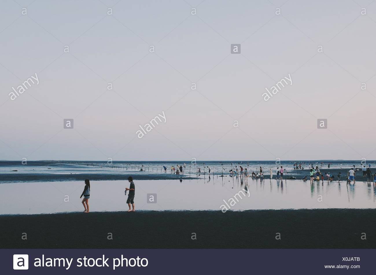 Beach At Twilight - Stock Image