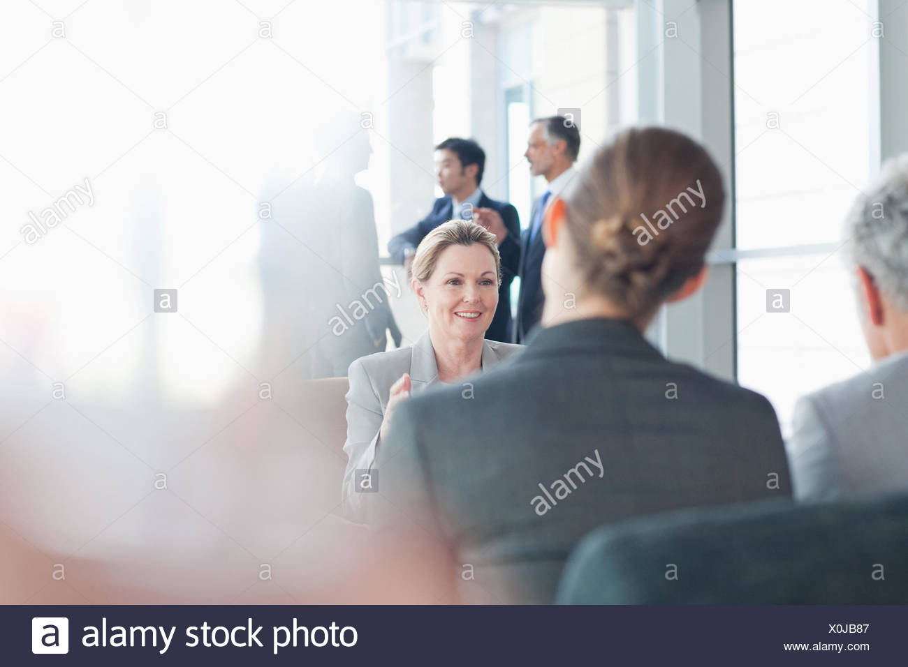 Business people meeting in office - Stock Image