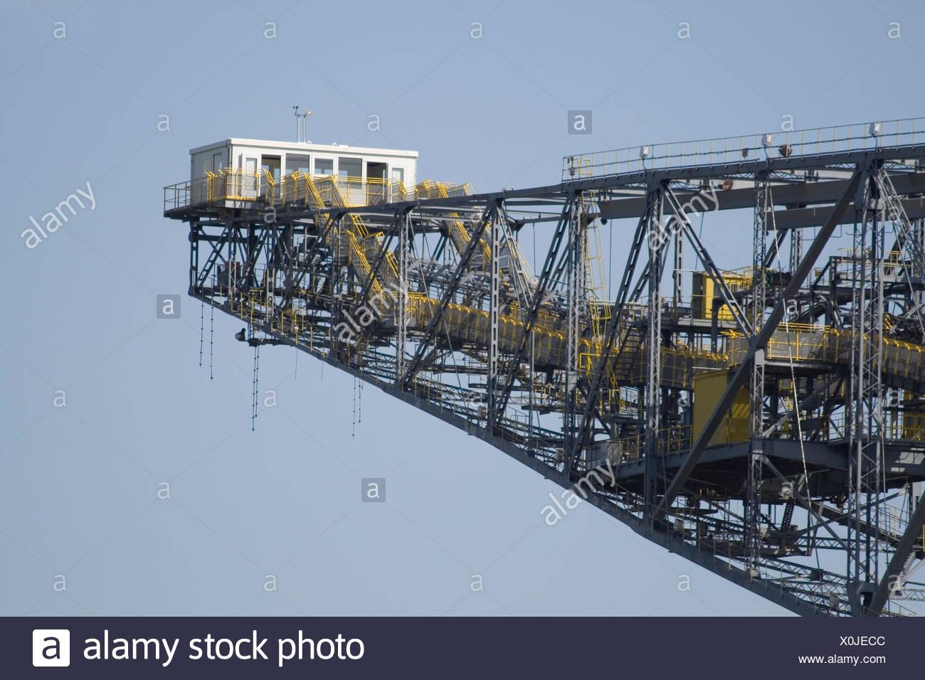 opencast,conveyor bridge - Stock Image