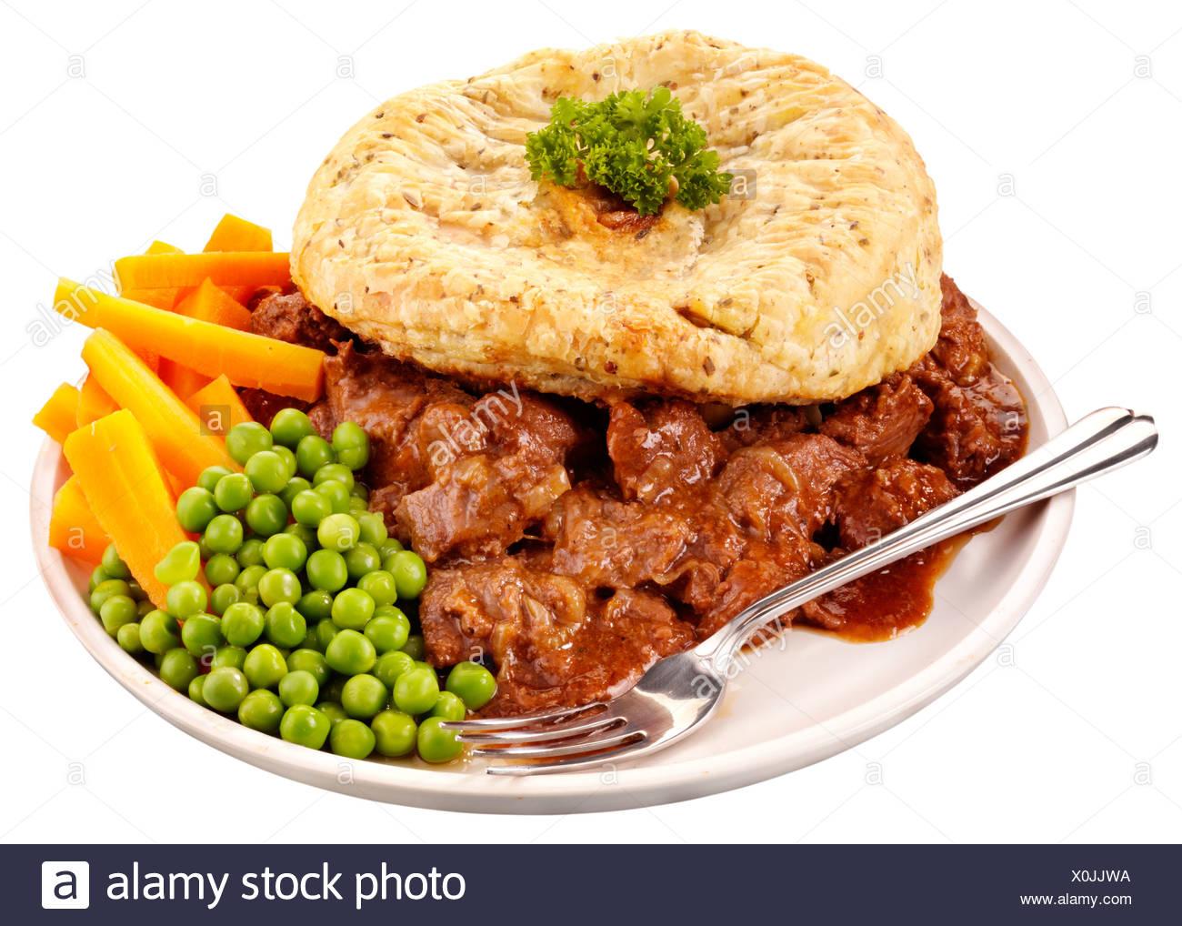 Steak Pie Dinner Stock Photos & Steak Pie Dinner Stock ...