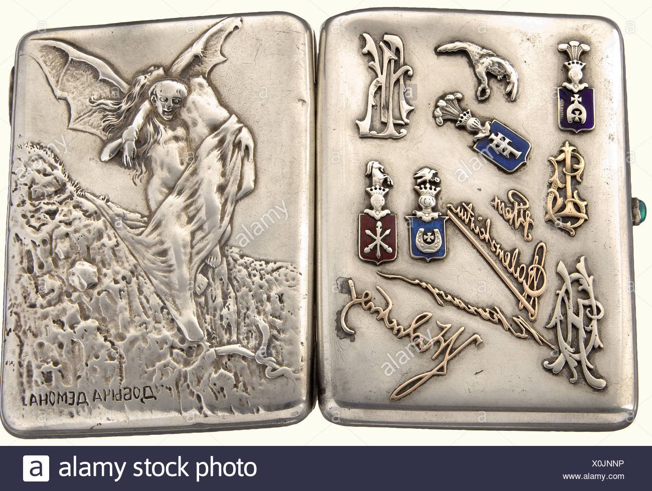 A cigarette case, presumably belonging to a Polish pilot  A