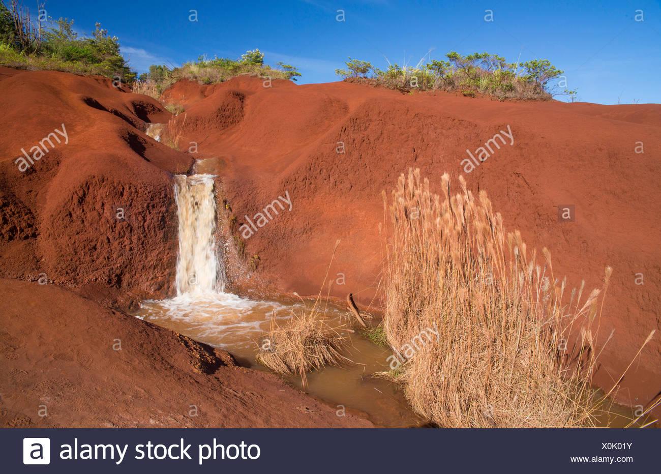 Kauai,Waimea,canyon,State park,Kauai,USA,Hawaii,America,waterfall, - Stock Image