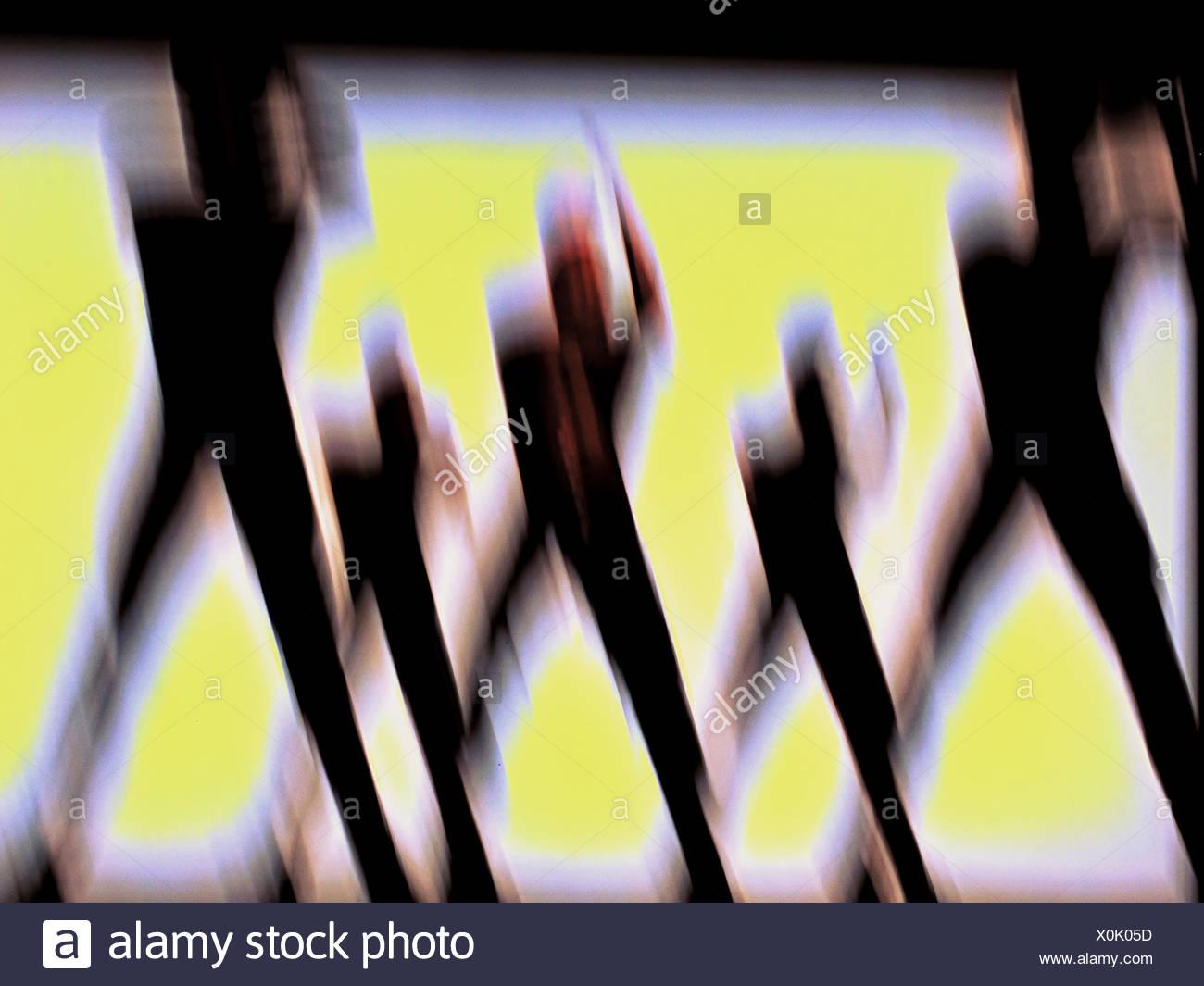 Dance, concepts, blurs, movement, blur, art, skill, men, - Stock Image