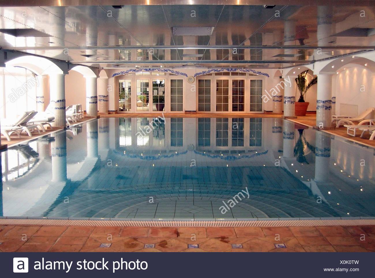Switzerland, Indoor hotel swimming pool - Stock Image