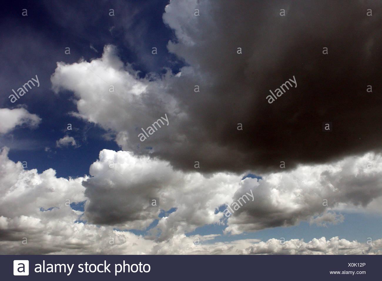 Iffezheim, Germany, cloudy sky - Stock Image