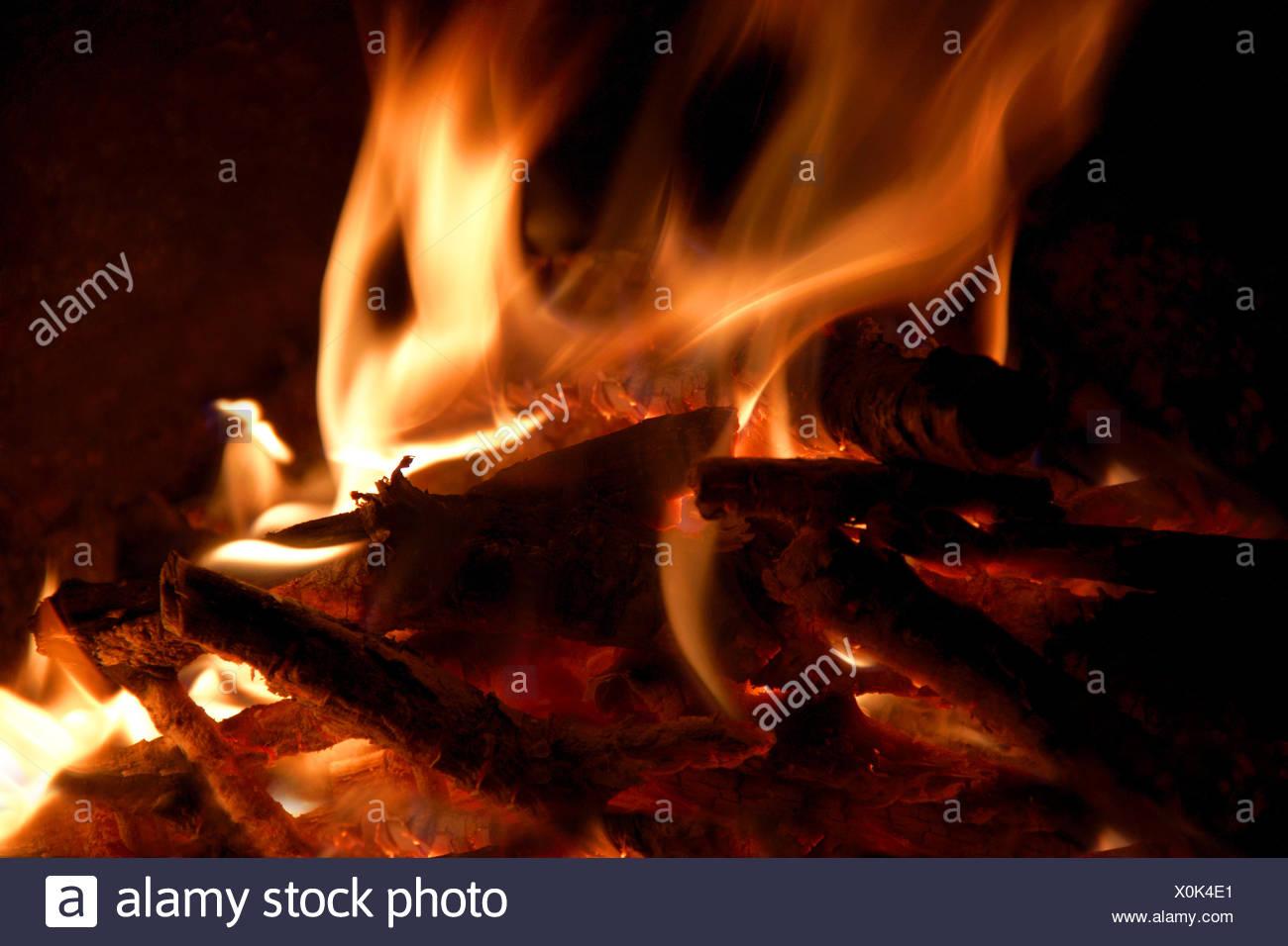 Flaring bonfire - Stock Image