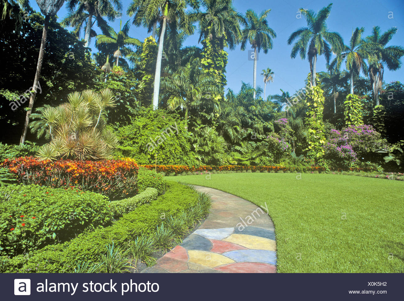 Sunken Gardens Florida 39 S Foremost Botanical Gardens St Petersburg Florida Stock Photo