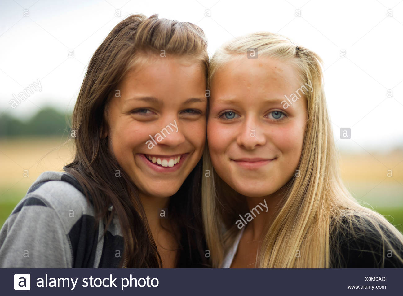 Two friends, Sweden. - Stock Image
